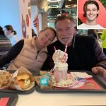 Patrick Schwarzenegger Tells Dad Arnold to Hit the Gym for Drinking a Milkshake: 'Gimme 10'